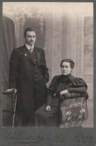 Stanisław syn Adolfa z żoną Marią z domu Dejczman, Sankt Petersburg, 1906 rok