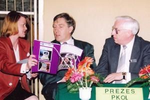 Beata, Andrzej Szalewicz- Prezes PKOL,  Stan Mitchell Prezydent Europejskiej Unii Badmintona