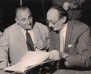 Od lewej  Bruno Coquatrix, Władysław Jakubowski