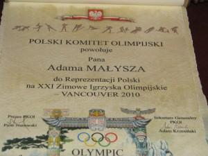 nominacja olimpijska Adama Małysza