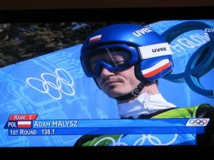 Adam Małysz skok po srebrny medal