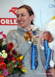 Okęcie Justyna Kowalczyk i jej medale