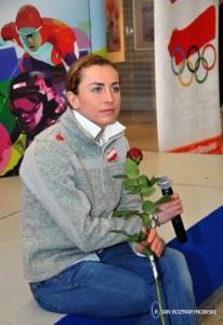 Okęcie Justyna Kowalczyk -szybka konferencja prasowa