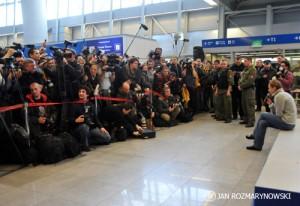Okęcie Justyna Kowalczyk - fotoreporterzy, dziennikarze,telewizje