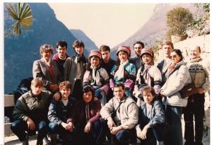 Nasza reprezentacja badmintona w drodze w góry zobaczyć wodspad spotkanie z tubylcami
