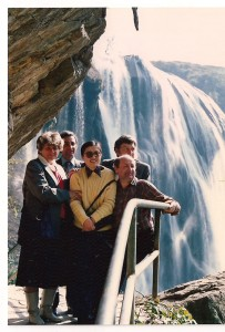 stoją od lewej ja, Jola Shi Pin, Jurek Szuliński, z tyłu Rysiek i Andrzej