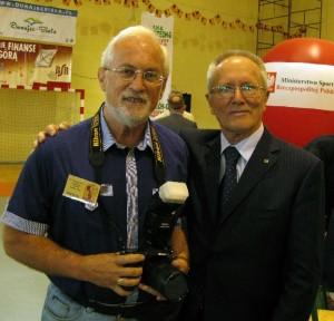 Jan Rozmarynowski z Waldemarem Baszanowskim