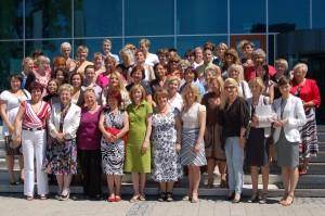uczestniczki seminarium, pierwszy rząd druga z lewej.E.Radziszewska, autorka  drugi rząd pierwsza z prawej w czerwonym żakiecie