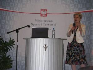 konferencja liderki sportu E.Radziszewska