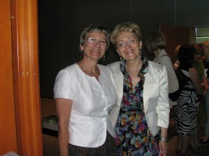 Elżbieta Radziszewska (z prawej) i prof. Ewa Kozdroń AWF Warszawa