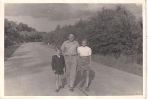 Międzywodzie droga do Dziwnowa 1954 r.