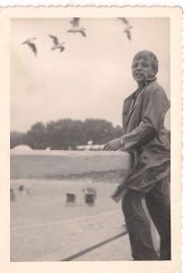 Międzyzdroje, brat na molo 1959 r.