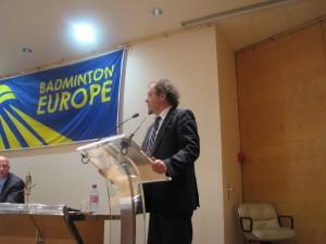 Powitanie Prezydenta Francuskiej Federacji Badmintona Paula-Andre Tramier