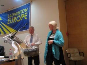 Tom Bacher i Prezydent Islandskiego Zw.Badmintona