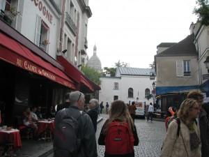 spacer na Montrmartre idziemy w Kierunku Bazyliki Sacre Coeur