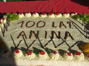 100 lecie Anina i tort z tej okzaji serwowany po koncercie