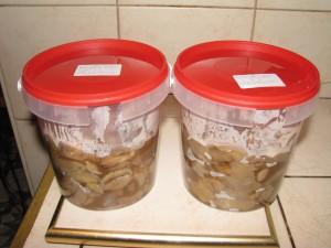 maślaki przygotowane do przechowania