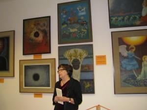 Barbara Szpinda otwiera wystawe obrazów malarza księdza Jerzego Wolffa