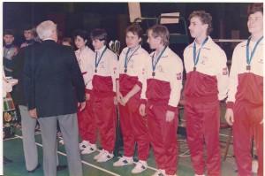 Reprezentacja Polski otrzymała z rak Prezydenta EBU Stana Mitchella małe medale za wygrana grupę i awans do grupy wyższej