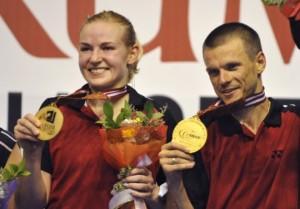 Nadia Kostiuczyk i Robert Mateusiak złoty medal w grze mieszanej  Mistrzostwa Europy Karlskrona