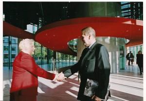 Prezydent Międzynarodowego Komitetu Olimpijskiego Jacques Rogge  , Jadwiga Ślawska Szalewicz  rok 2004 Warszawa