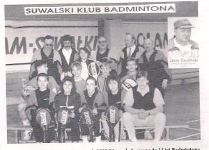 Drużyna badmintona SKB Suwałki zdobywa awans do I ligi rok 1991