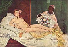 Edouard Manet (1832-1883- Olimpija 1863 naga kobieta  Victorine Meurent