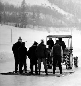 Zakopane tor lodowy 1966 czyszczenie lodu