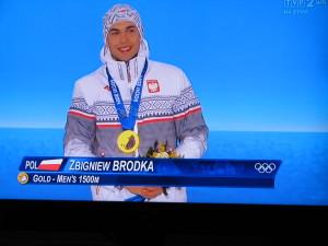 Zbigniew Bródka ze złotym medalem IO Soczi 2014