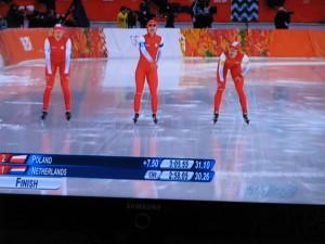 srebrna drużyna panczenistek