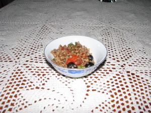 sałatka z kaszą gryczaną