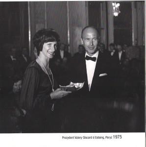 Irena w Pałacu Prezydenta Francji Paryż 1975