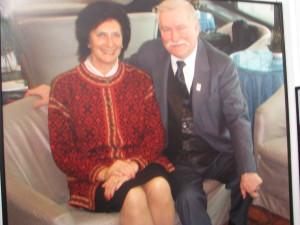 Irena Szewińska i Prezydent Lech Wałęsa