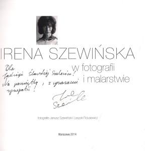 Album z wystawy z dedykacją  dla mnie od pani Ireny Szewińskiej