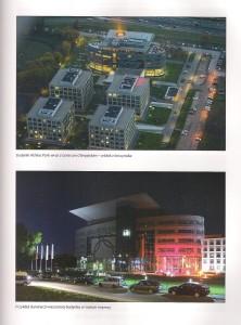Centrum Olimpijskie - wieczorna iluminacja