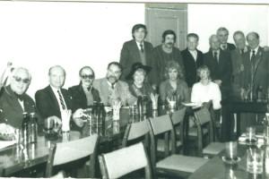 laudacja Z. Adrjańskiego na cześć K. Czejarka, w towarztswie J>Kępski, St.Werner, A.Seroczyński,