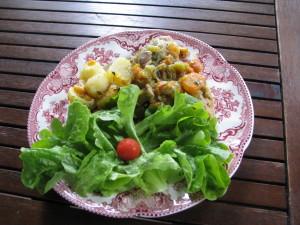 udziki z kurczaka w sosie francuskim