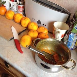 przygotowanie dżemu pomarańczowego