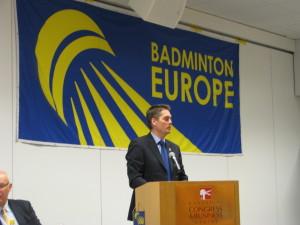 Poul- Erik Hoyer 2011 prezydent BEC, późniejszy prezydent BWF