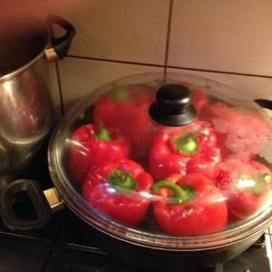 25 gotowania na wolnym ogniu i papryka gotowa, smacznego!
