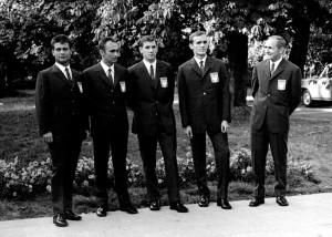 Warszawa AWF.1968r.Druzyna polskich szablistow na olimpiade Meksyk 68r..Fot.Jan Rozmarynowski/Forum
