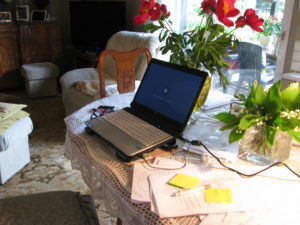 Mój stół podczas pisania