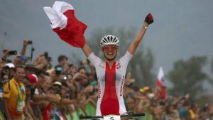 Maja Włoszczowska srebrny medal w MTB Igrzyska Olimpijskie Rio 2016 (zdj. z Internetu)