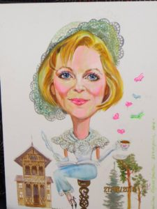 Małgorzata Gutowska-Adamczyk obraz namalowany przez panią Paulinę Kopestyńską