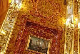 zrekonstruowana Bursztynowa Komnata na trzechsetlecie St.Petersburga