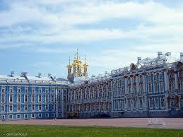 Carskie Sioło, stąd rozpoczęliśmy oglądanie pozostałości pałacu